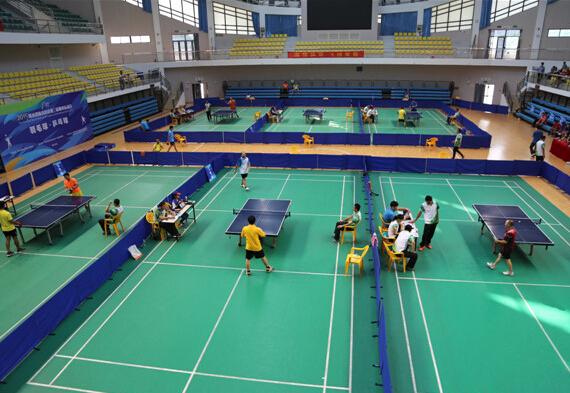 县第三届体育运动兵乓球项目开赛_陵水初中之约名校新闻2017试卷图片