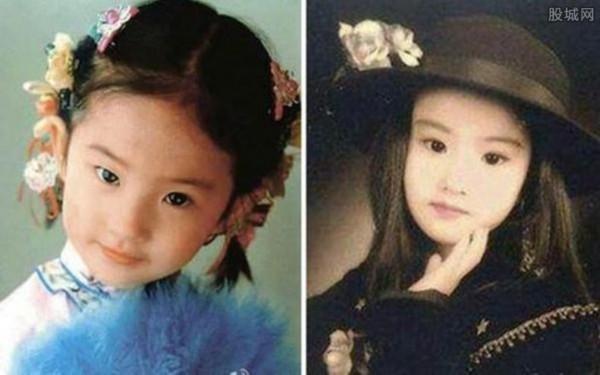 刘亦菲小时候照片