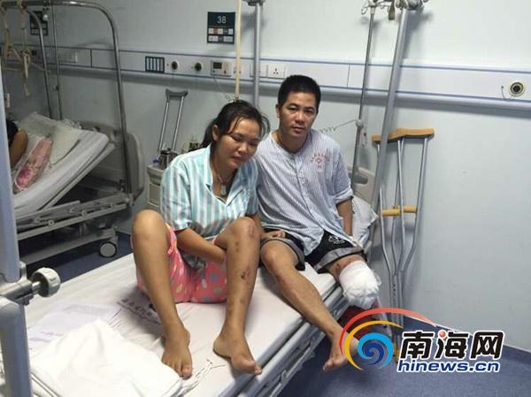 三亚:贫困夫妇遇车祸丈夫腿截肢患病幼女无人照顾