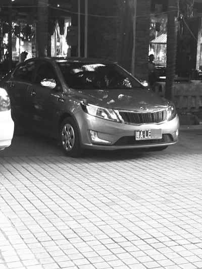 海口市民轿车放停车场被偷偷车贼用时不到3分钟