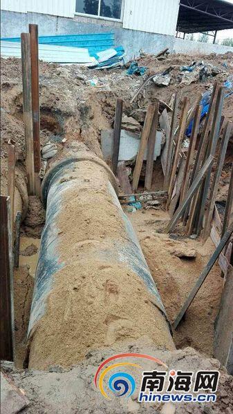 海口破损自来水管道已被替换将逐步恢复供水