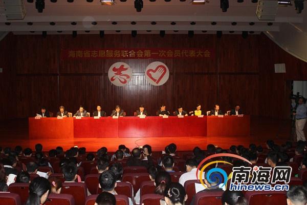 海南成立志愿服务联合会朱寒松任首届会长