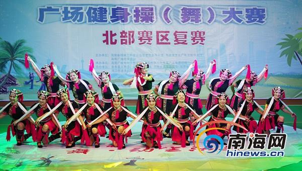 海南文明生态村广场健身操开赛海口龙华获北部区冠军