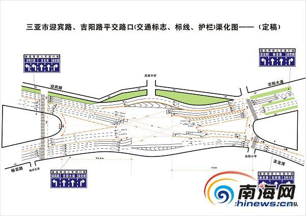<b>三亚吉阳环岛路口完成改造新增红绿灯+电子引导屏</b>