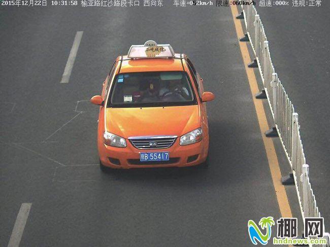 三亚有辆出没无常的出租车交警对其全城围捕