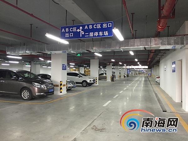 三亚凤凰机场停车楼室内停车场正式启用(图)图片