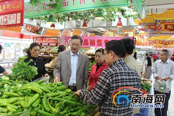 """海南考核""""菜篮子""""建设昌江一市场占道经营严重"""