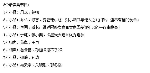 春晚8个语言节目名单曝光 TFBOYS现身联排【王凯无缘央视春晚】
