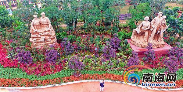 海南三角梅花展2月1日开幕游客可赏花换花观看演出