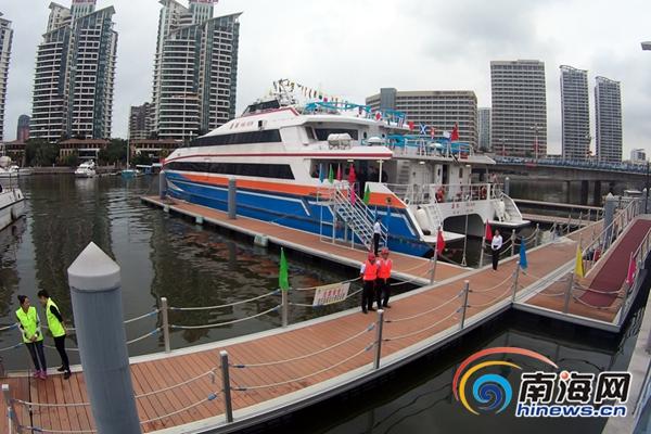 三亚海上巴士试航单程约1小时未来将开通两条航线