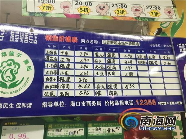 1元蔬菜获海口市民点赞4日36个菜篮子供应点仅8个有售