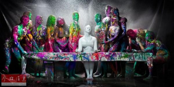 1oo人体艺术_组图:艺术家泼出\