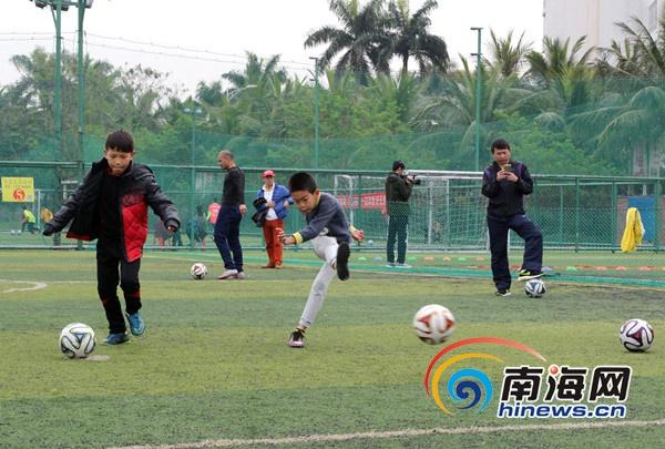 海口开展少儿足球趣味射门大赛既健身又体验足球魅力