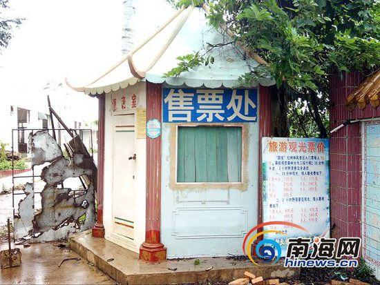 东寨港红树林景区内的旅游走廊已经很少有人光顾。南海网记者