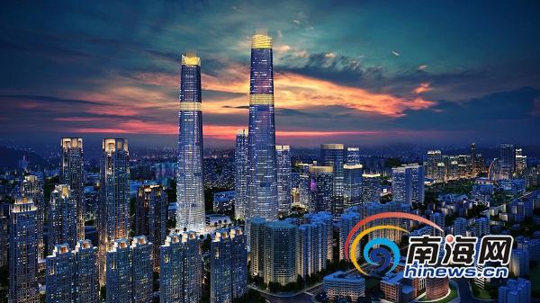 海南第一高楼海口双子塔征集logo