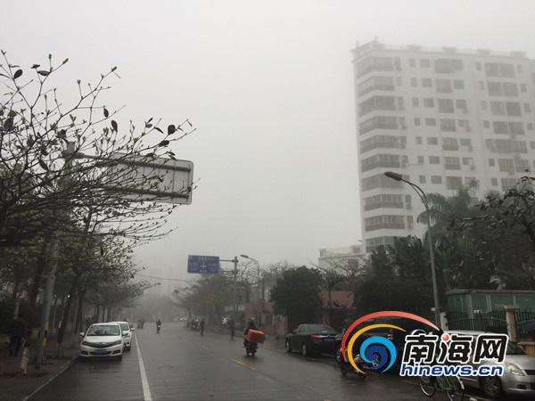 大雾围城!海南多市县发布大雾预警出行须小心