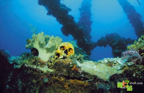 """神秘世界:遺落在海底的人類文明 圖揭遺失海底的外星人基地""""大西國""""圖片"""