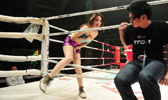 韩国拳击举牌第一美女