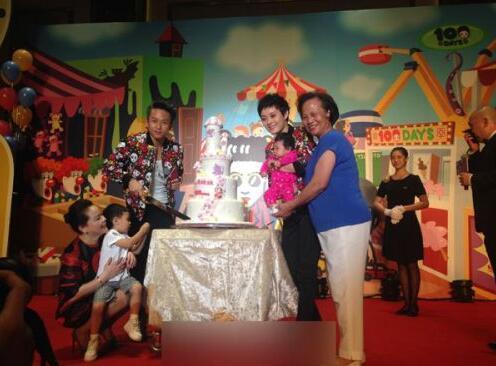 恰巧是她与老公结婚10周年,因此百日宴样式参照