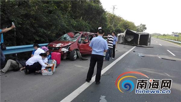 路遇车祸勇救伤员海南一中院3名法警好样的![图]