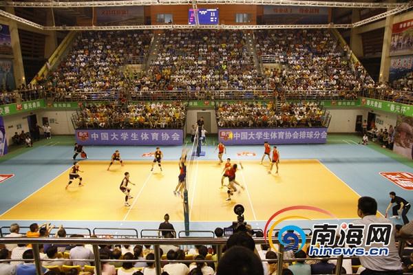 中国大学生排球联赛:海南师范大学小组第二晋级八强