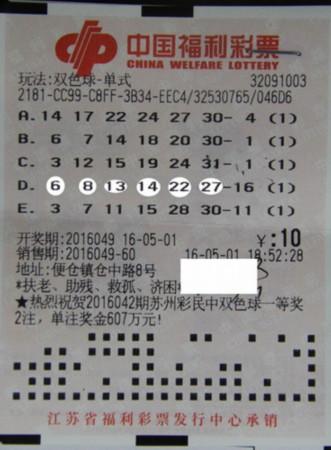 50岁大妈通过彩票微信群荐号 自编机选号中10万
