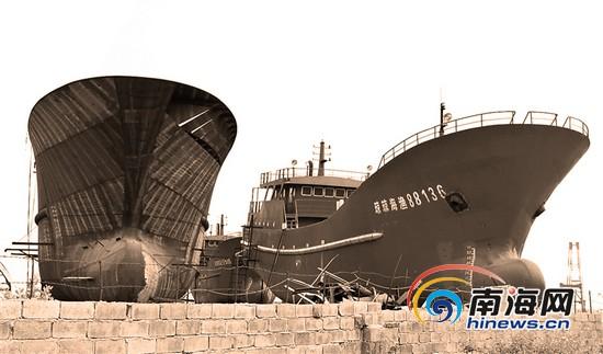 深陷造船纠纷案琼海两百万元渔船被扣在船厂[图]