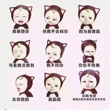 """童菲在微博中发了一张模仿""""本宝宝""""表情的九连拍,并且发文称""""我最酷!图片"""