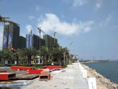 海口公共海岸带被人围起来开发商:依法合规购买