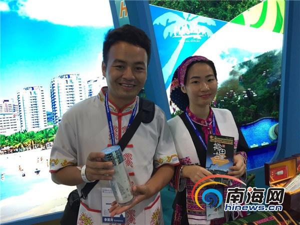 陵水椰田古寨景区银器亮相北京国际旅游博览会受好评