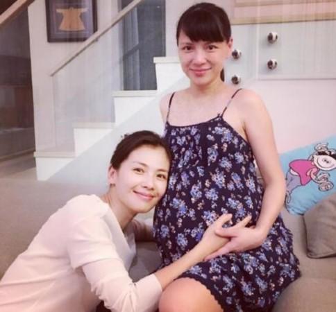 刘涛与准妈妈李心洁合影 网友:俩辣妈素颜这么美