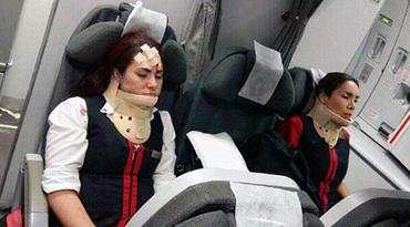 哥航班遇强气流23人受伤