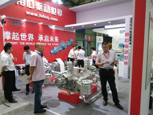 式驱动桥和hde5t中央电机集成驱动桥四款产品参加了本次新能源汽车展.