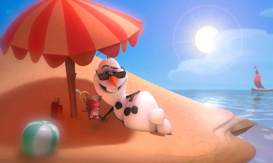 《冰雪奇缘》中的小雪人.