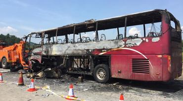 湖南旅游大巴起火事故