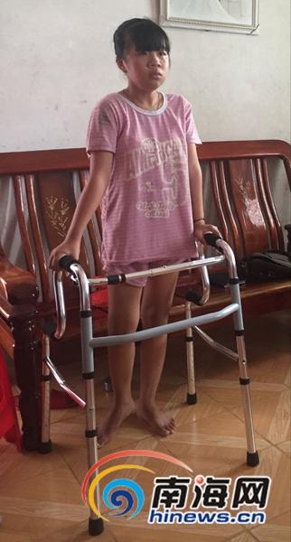 帮帮文昌这对姐妹花14岁贫困女孩患18种病求救治
