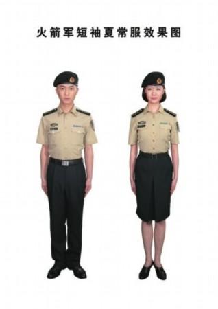 火箭军短袖夏常服效果图-火箭军今起换发新军服 衬衣为国际经典色图片