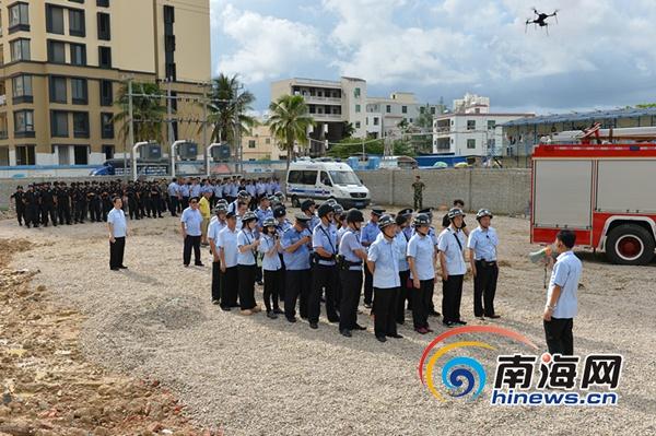 <b>三亚城郊法院执行清场首次使用无人机跟拍</b>