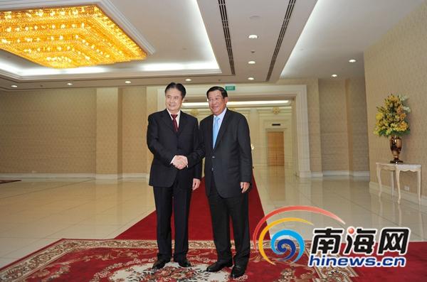 柬首相洪森会见海南省委书记罗保铭多领域达成共识