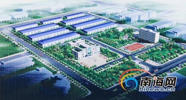 海南最大钢材生产要素交易中心在金马物流中心开建