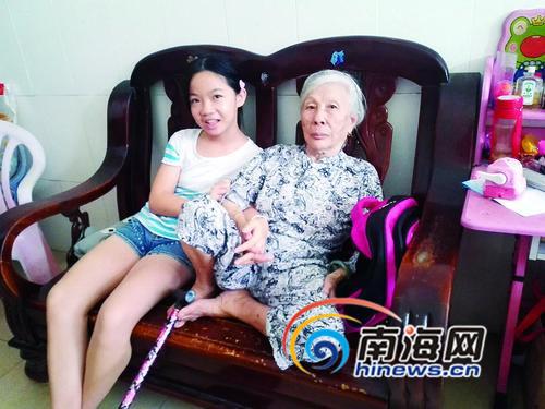 儋州9岁女孩与奶奶相依为命低保被取消再申请不批