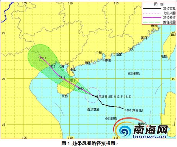 第3号台风将于今夜在海南东部沿海登陆风力8级