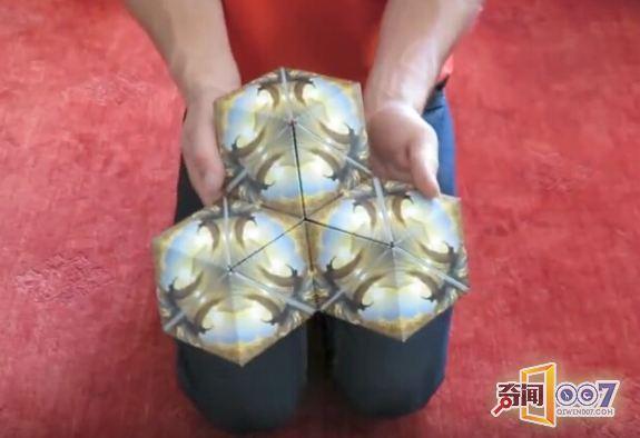 只是一个普通的折纸正方体?它的变化让你大呼神奇