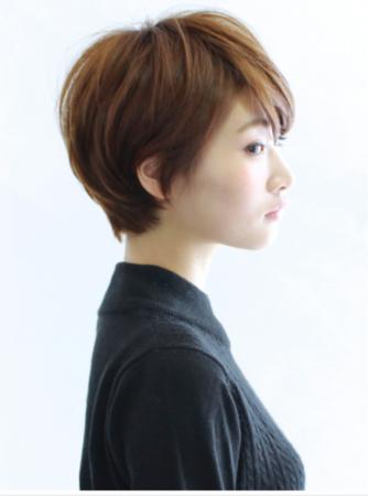 这款短发比较线条比较柔和,染发部分建议可以走暖色系的.