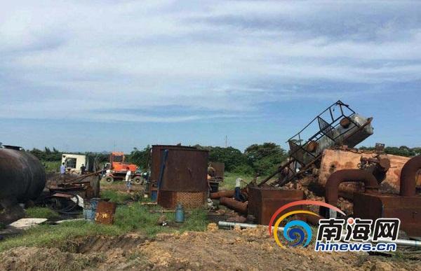 南海网报道引重视文昌非法炼油厂被取缔