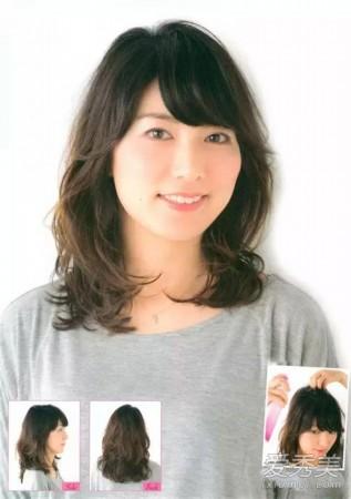 整体发型看起来清爽大方又不失甜美感,蓬松大卷发尾将脸型修饰得精图片
