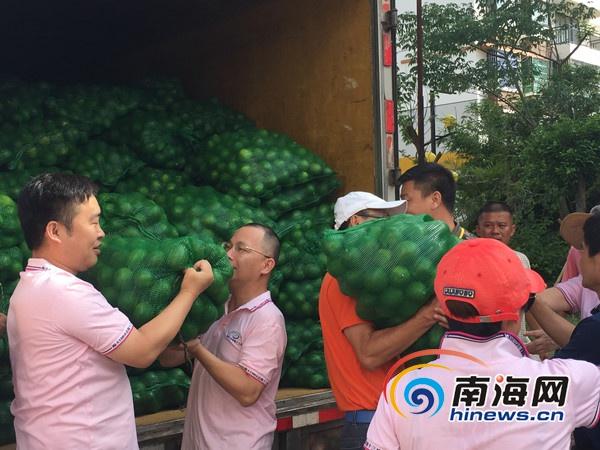 文昌柠檬滞销海大总裁班购万斤柠檬送海口环卫工