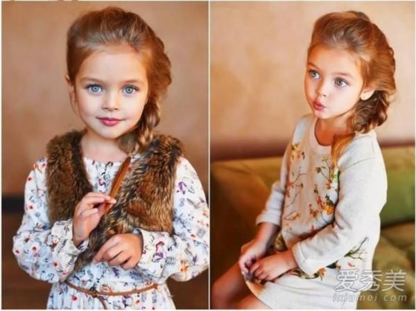 宝宝头发少就不掏空换发型?最全萌娃造型推两边随便齐刘海女图片