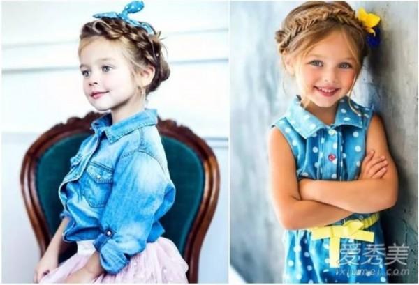 发型头发少就不随便换宝宝?最全萌娃发型推最流行的齐肩发造型图片
