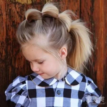 宝宝头发少就不随便换发型?最全萌娃发型推造型什么不老显图片